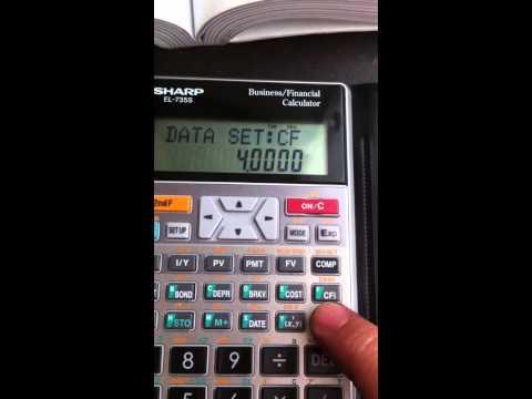 NPV Calculation by Financial calculator Sharp EL-735S