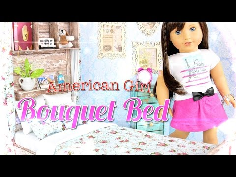 DIY - How to Make: Doll Bed:  AMERICAN GIRL Bouquet Bed - Handmade - Doll - Crafts