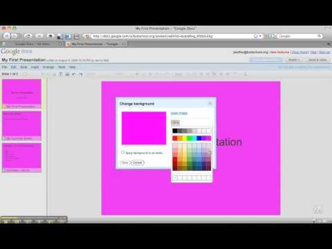Google Docs Presentation: Themes, Colors, and Fonts