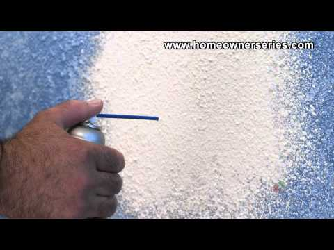 How to Texture Drywall - Spray Can Texture - Drywall Repair
