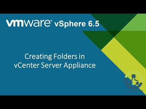 06. Creating Folders in vCenter Server Appliance (Step by Step guide)