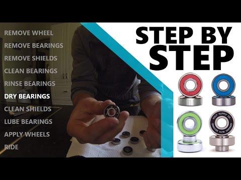 Longboard/Skateboard Bearing Cleaning Tutorial