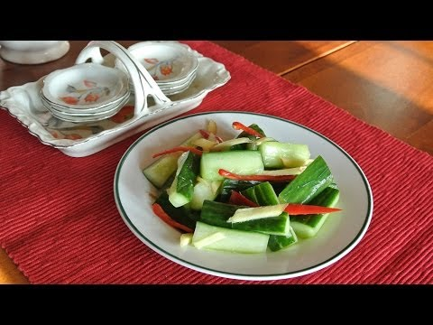 Taiwanese cold cucumber mix 涼伴黃瓜 side dish