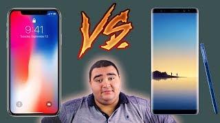 iPhone X vs Galaxy Note 8 | المقارنة القصوى !!