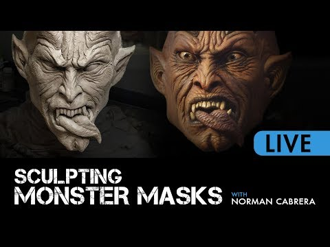 Sculpting Monster Masks - LIVE COURSE PREVIEW