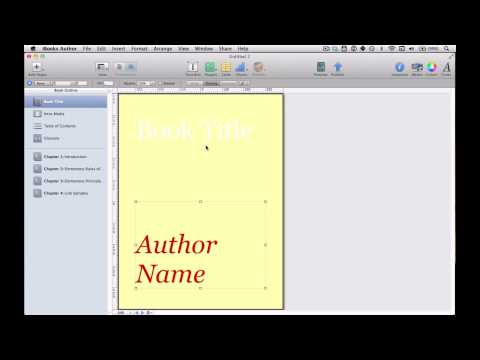 How to make a book cover in iBooks Author