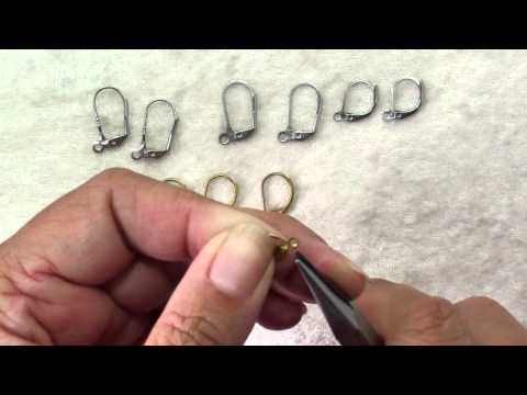 All About Leverback Earring Findings.