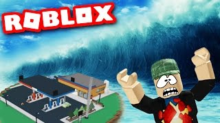Download SURVIVING A MASSIVE TIDAL WAVE!? ~ Let's Play Roblox ~ Roblox Natural Disaster Survival Gameplay Video
