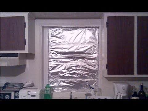 How to isolate a window for the winter, fast and easy method