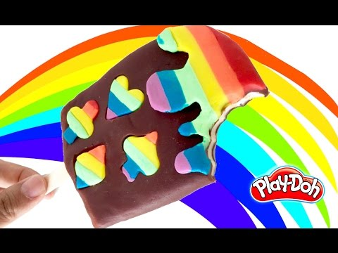 PLAY-DOH CREATIONS LEARNING RAINBOW ICE-CREAM POPSICLE PLAYING CARD DESIGN MOLD PLAY DOH TUTORIAL