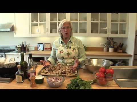 Tuscan Bread Salad with Chicken under a Brick
