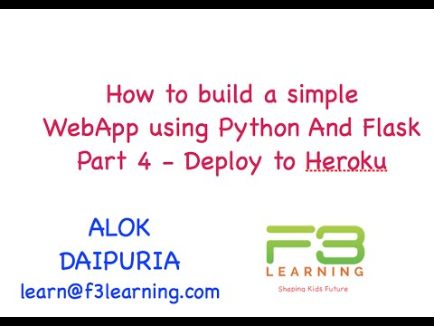 Build Web App With Python And Flask Part 4 - Deploy to Heroku