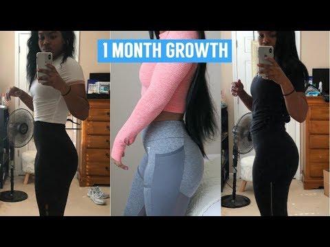 HOW TO GET A BIGGER BUTT!! 1 MONTH PROGRESS!!
