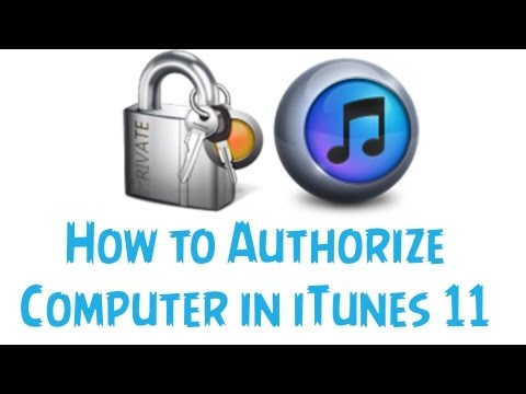 How to Autorize A Computer in iTunes 11 - Quick and Easy