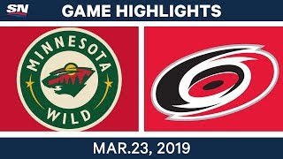 Download NHL Game Highlights | Wild vs. Hurricanes – March 23, 2019 Video