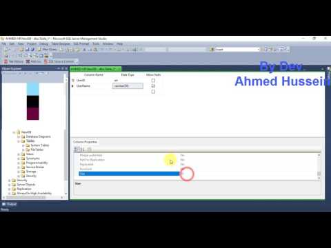 19- SQL Server Databases : Create users table