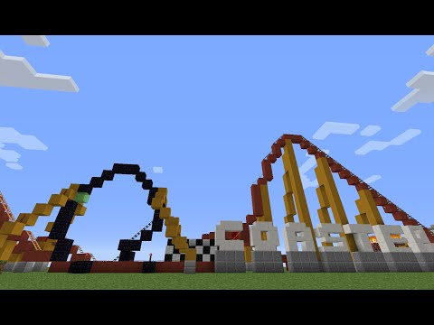 Minecraft Tutorial: How to Build a Cool Looping Roller Coaster (With Working Loop) Full Tutorial