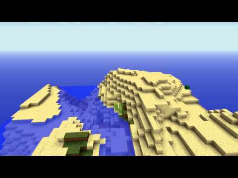 14 BIOME ISLAND with VILLAGE and STRONGHOLD