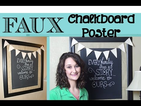 Chalkboard Style Poster   #2