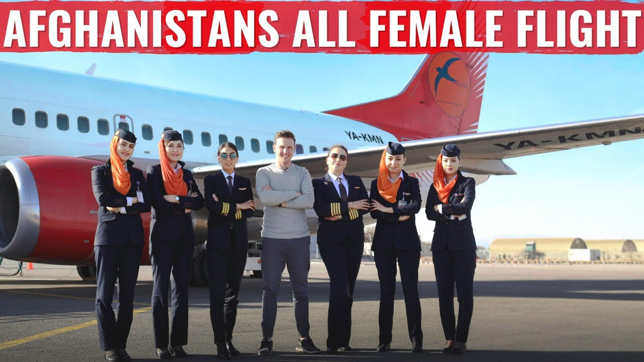 AFGHANISTAN's HISTORIC FIRST ALL-FEMALE CREW FLIGHT on KAM AIR!