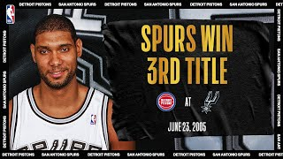 2005 NBA Finals Game 7: Detroit Pistons @ San Antonio Spurs #NBATogetherLive