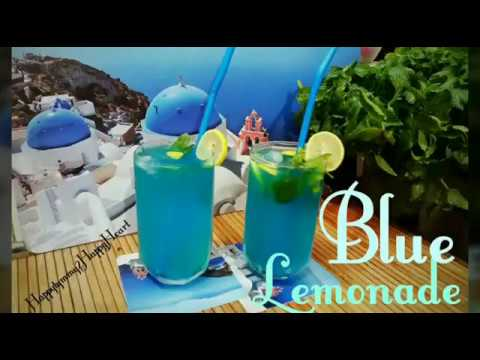 Blue Lemonade/Aqua Blue Lemonade/ Mermaid Ocean Juice/Non-Alcoholic Party Drink/   Blue MOCKTAIL