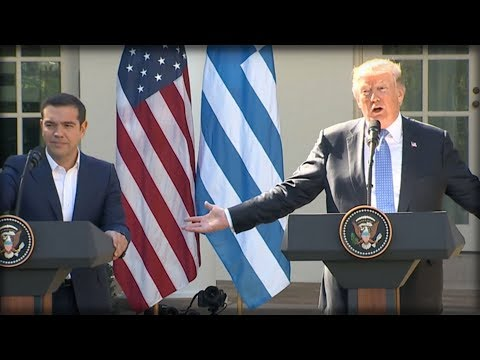 HA! WHILE STANDING NEXT TO PRESIDENT, GREEK PM GETS CALLED OUT FOR THE NASTY THING HE SAID ABOUT HIM
