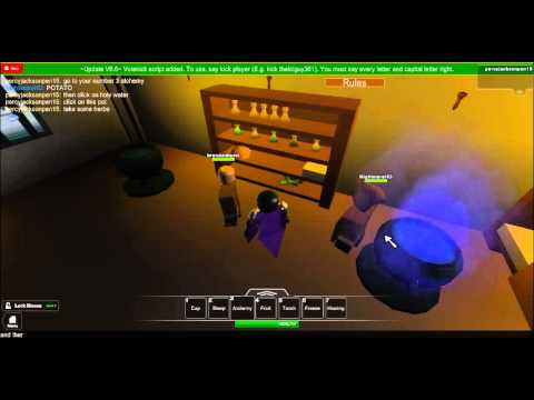 Roblox Kingdom Life 2 how to make a healing potion