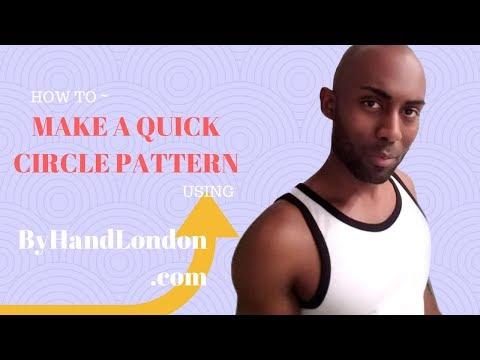 How to Make a Circle Skirt Pattern using ByHandLondon.com