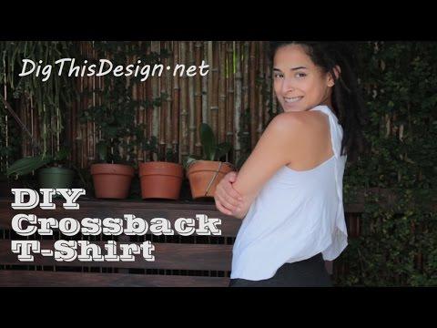 DIY Upcycle Tshirt - The Crossback tee