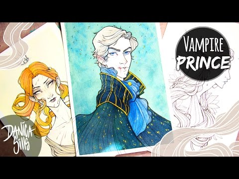 Vampire Prince ♦ Watercolor Speed Painting ♦ Dealing with Jealousy as an Artist