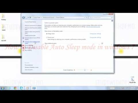 How to Disable/Enable Auto Sleep Mode in Windows 7