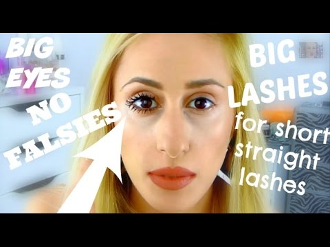HOW TO | Super Bold Mascara Look for Short Straight Lashes! | DYNA ❤