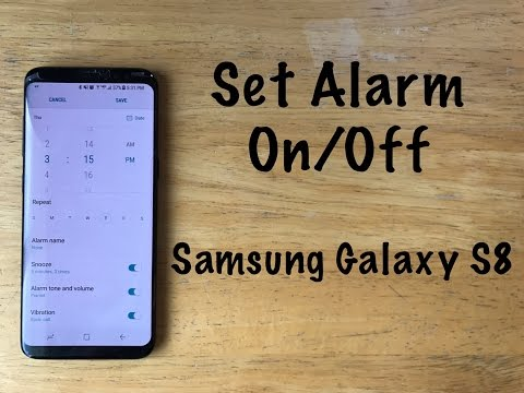 How to turn the alarm on / off on a Samsung galaxy s8/s8 Plus