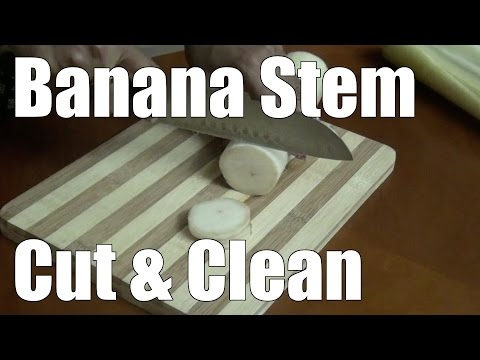 How to cut and clean banana stem for cooking? | Simple Indian Recipes #5