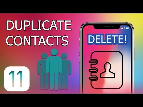 How to Delete Duplicate Contacts on iPhone and iPad with iOS 11