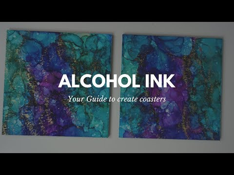 ALCOHOL INK - Coasters Tutorial