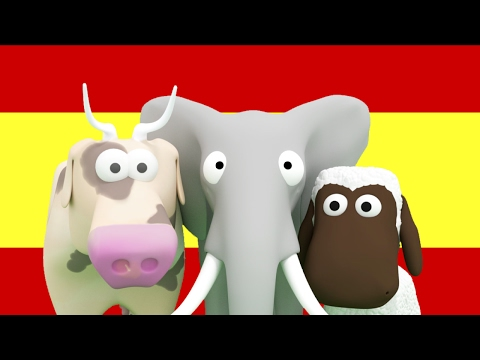 Learn Spanish for Kids: Animals, Vehicles, Numbers and Counting for Children