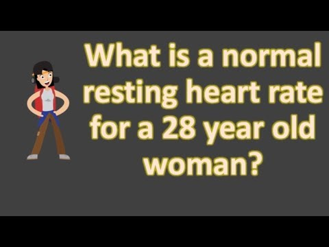 What is a normal resting heart rate for a 28 year old woman ?  | Frequent Health FAQS