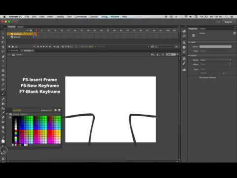 Adobe Animate Tutorial: Frame by Frame Stick Figure Animation