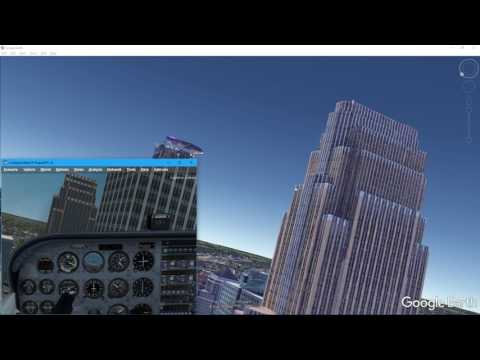 Google Earth Flight with LM P3D