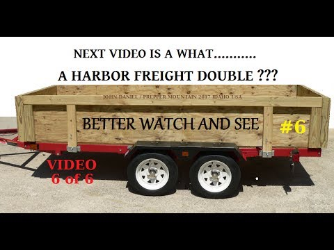 DIY Utility Trailer Build & Harbor Freight Trailer kit vid Intro SEE BELOW #6