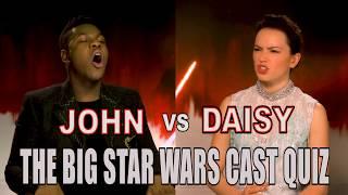 Daisy Ridley and John Boyega fail our Star Wars: The Last Jedi cast quiz!