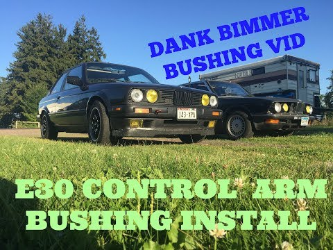 CONTROL ARM BUSHING REPLACMENT! how to for a bmw e30