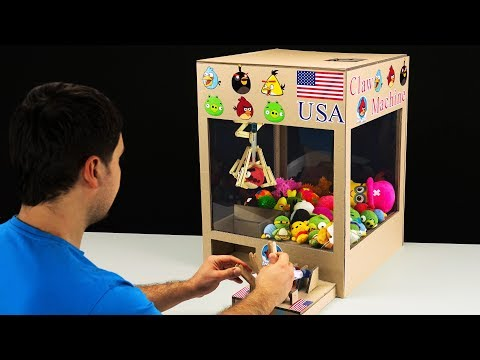 How to Make Hydraulic Claw Machine from Cardboard