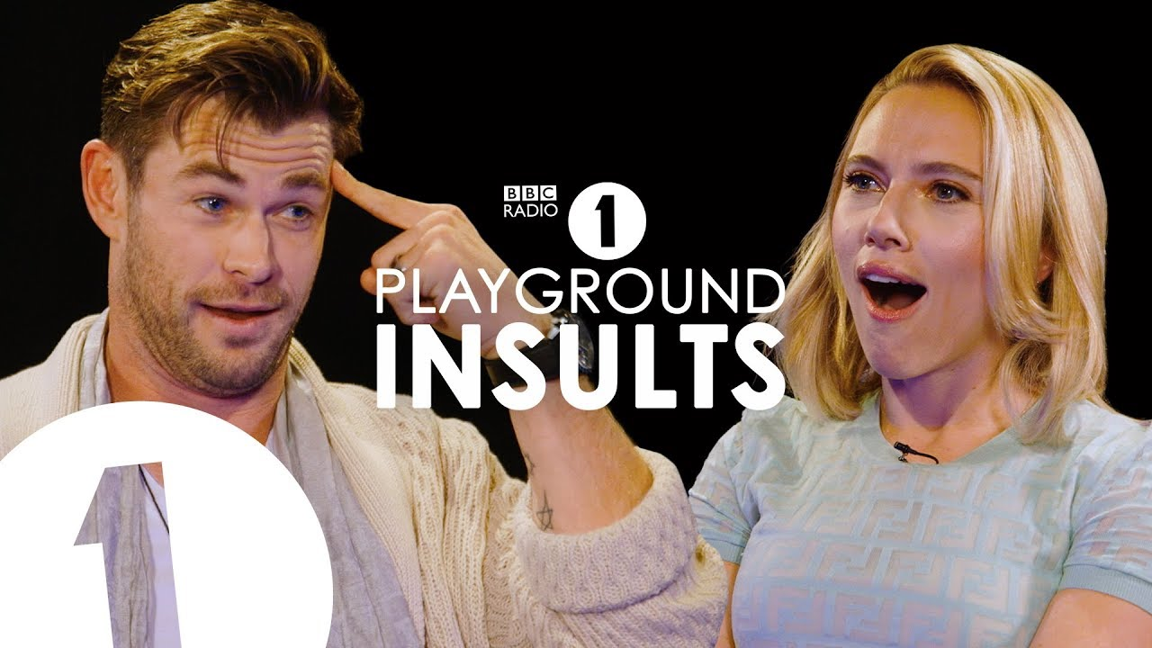 Chris Hemsworth and Scarlett Johansson Insult Each Other   CONTAINS STRONG LANGUAGE!