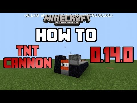 How To Make A TNT Cannon In MCPE 0.14.0|Minecraft PE (MCPE) How To #23