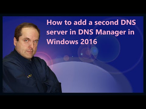 How to add a second DNS server in DNS Manager in Windows 2016