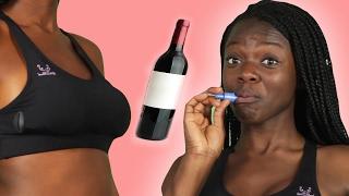 Women Wear Wine Bras For A Day
