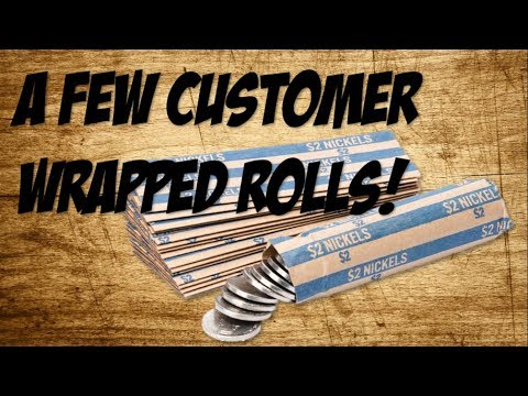 A FEW CUSTOMER WRAPPED ROLLS! -Coin Roll Hunting-